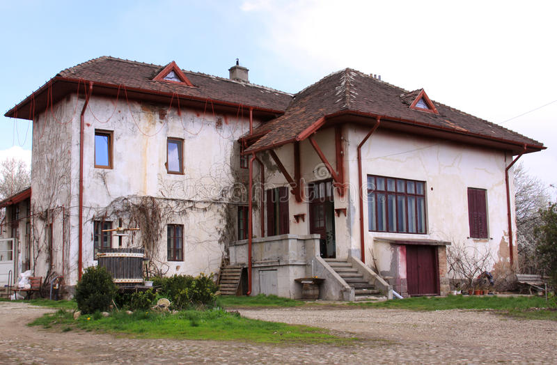 Old house. With reddish roof stock photo