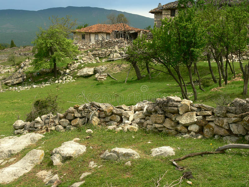 Old house in Rhodope mountain, Bulgaria stock images
