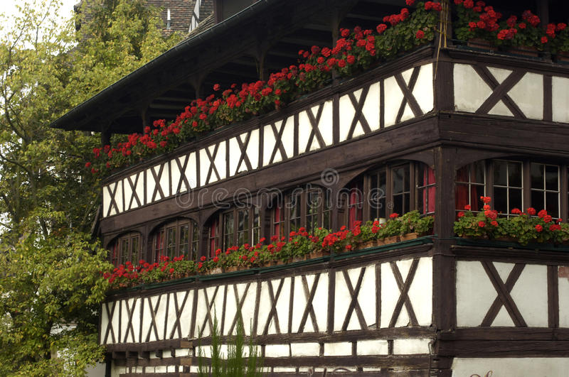 Old house in Strasbourg stock images