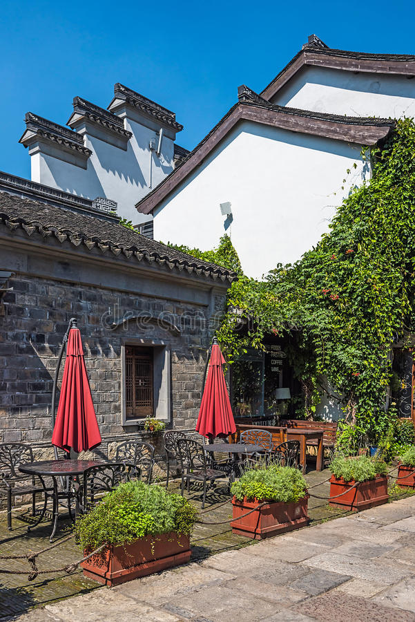 Old house and teahouse. This photo was taken in laomendong scenic spot, Nanjing city, Jiangsu province, china stock image