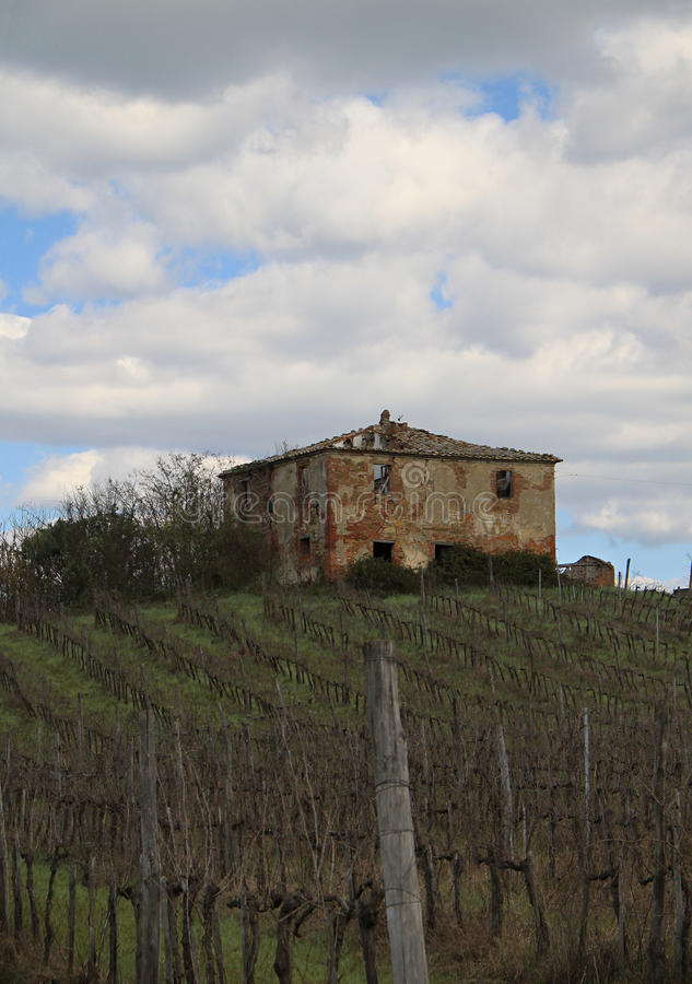 Old House and Vineyard stock images