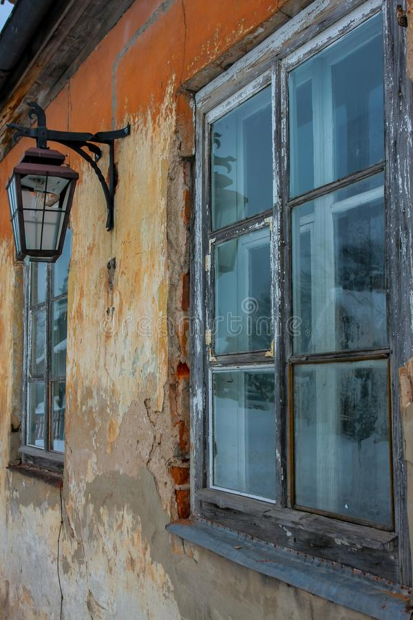 Old house wall in Cesis. Latvia. royalty free stock image