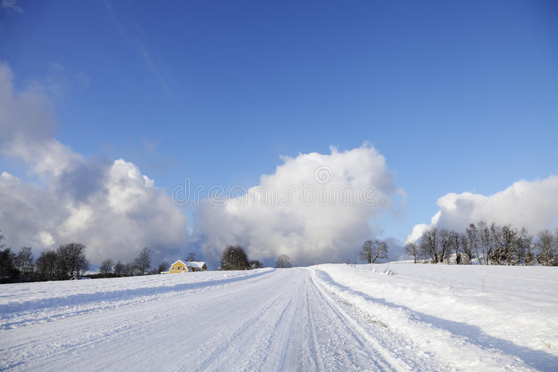 Download Old House In A Winter Landscape Stock Image - Image: 28035007