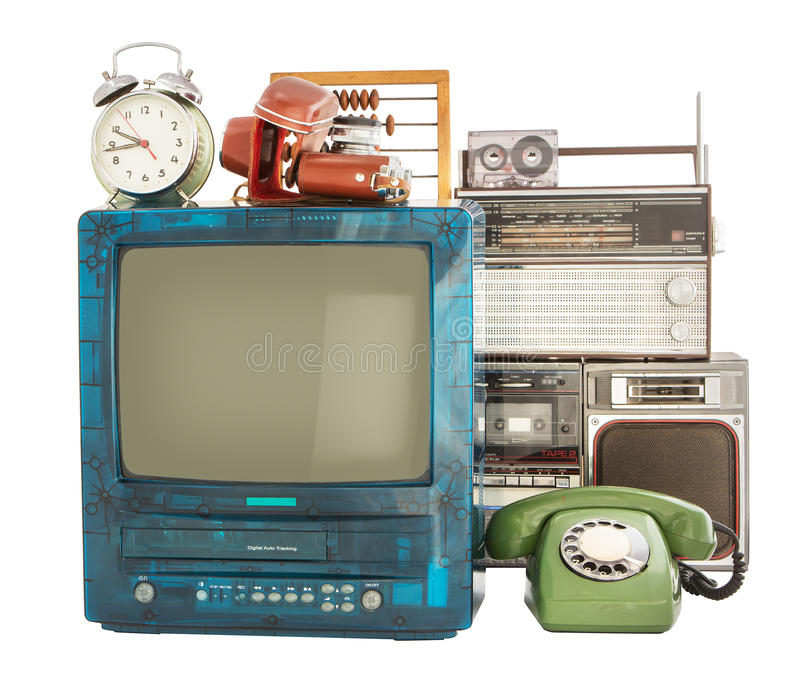 Old household items royalty free stock image