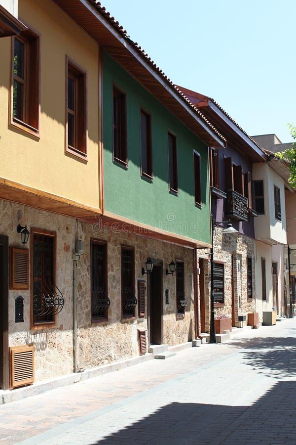 Old houses in Antalya, Turkey stock photos