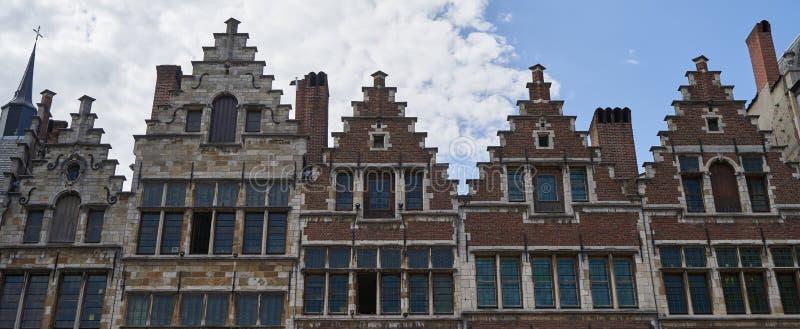 Old houses in Antwerp Belgium. Old historic houses in Antwerp Belgium stock photos