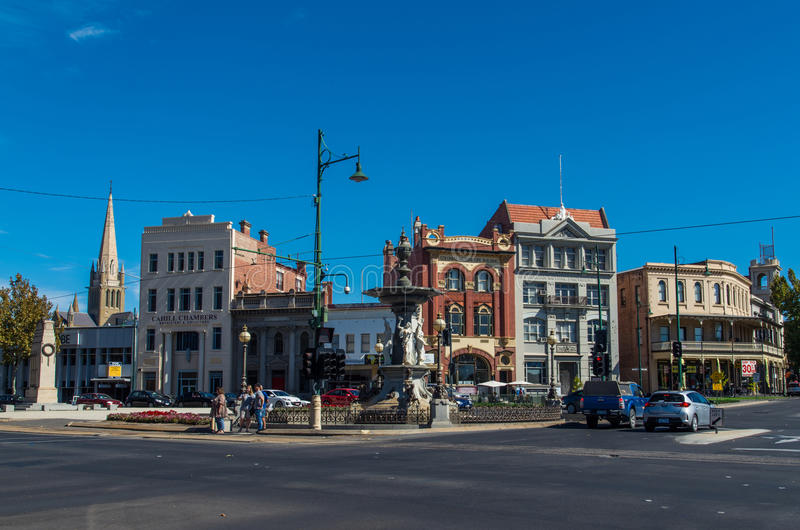 Old houses in central Bendigo, Australia royalty free stock photography