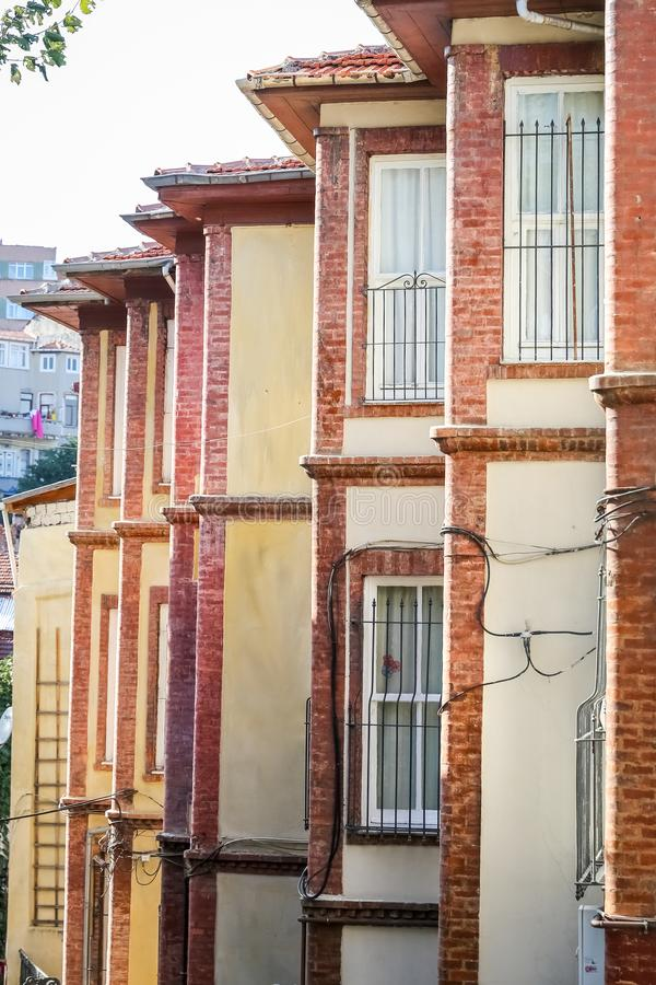 Old Houses in Fener District, Istanbul stock images