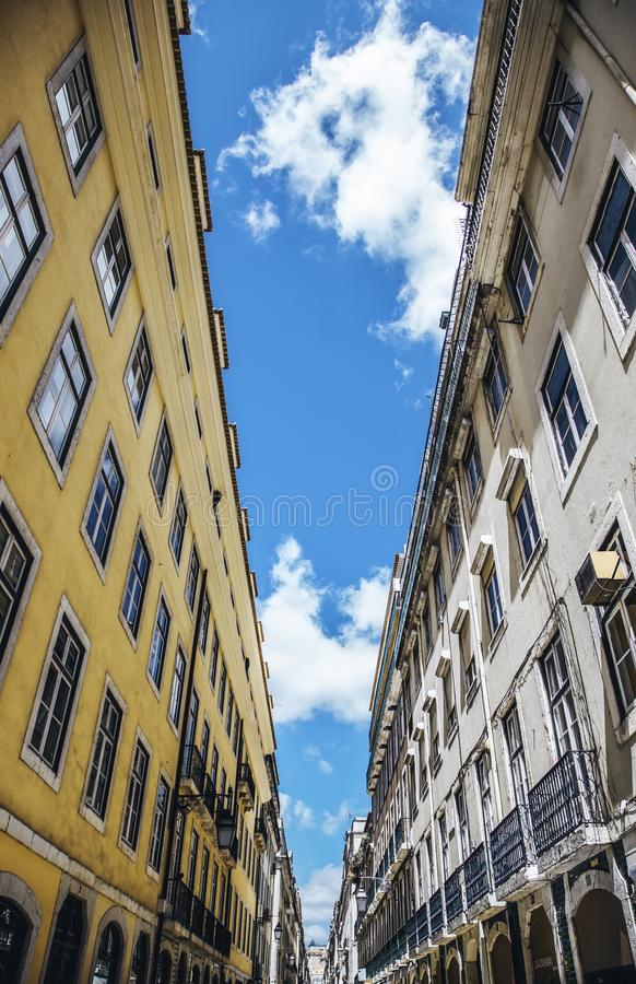 Old houses of Lisbon stock image