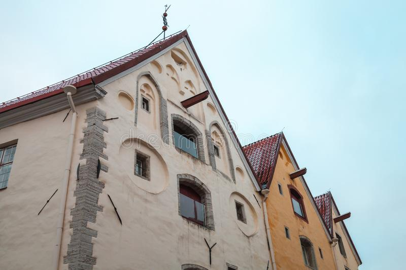 Old houses in old town of Tallinn royalty free stock photo