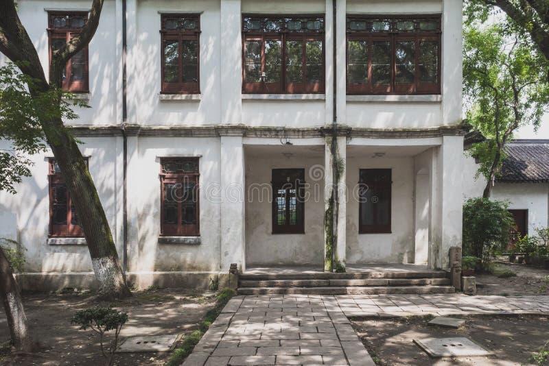 Old houses in old town Tongli, Jiangsu, China. Old houses in the old town of Tongli, Jiangsu, China stock photo