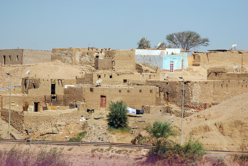 Old houses in Sahara desert royalty free stock photos