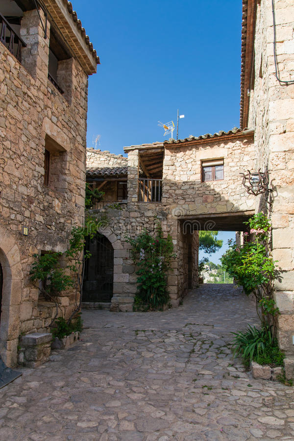 The old houses in Siurana royalty free stock image