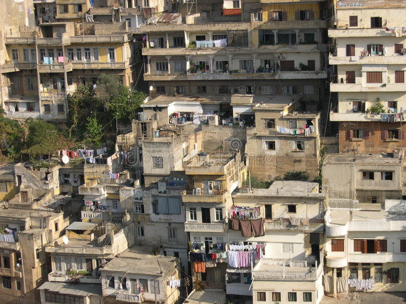 Old houses in Tripoli, Lebanon stock images