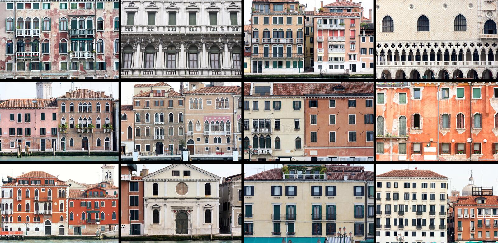 Old houses in Venice, Italy royalty free stock images