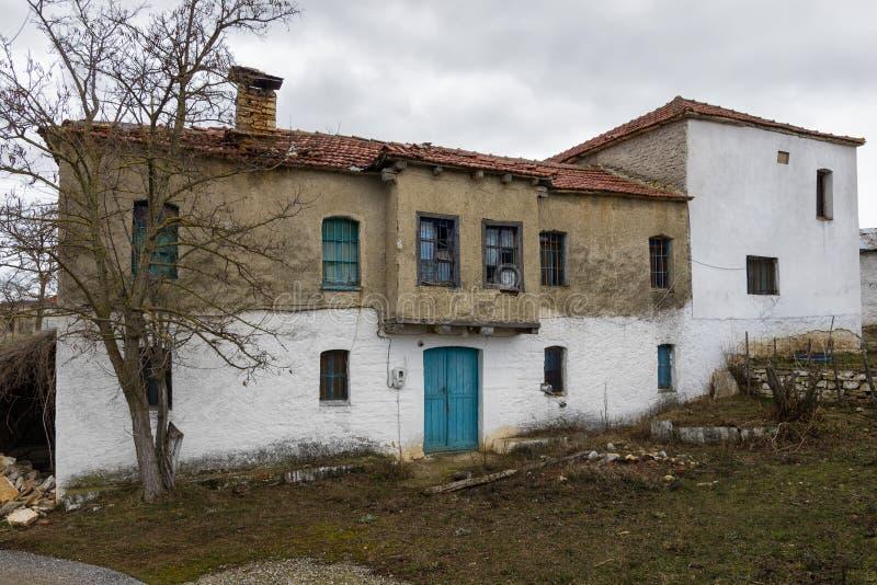Old houses in Vrontero village, Prespes lakes region, Florina, Greece. Old houses in Vrontero village, Prespes lakes region, Florina, Macedonia, Greece stock image