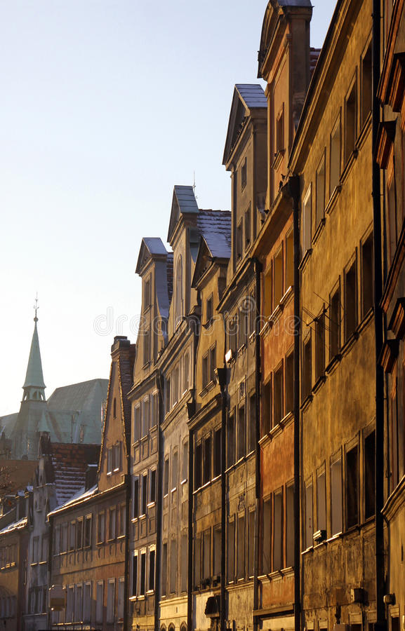 Old houses in Wroclaw royalty free stock photos