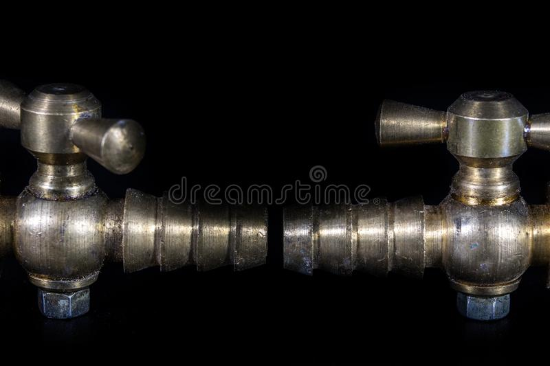 Old hydraulic valve. Garden accessories for watering vegetation. stock images