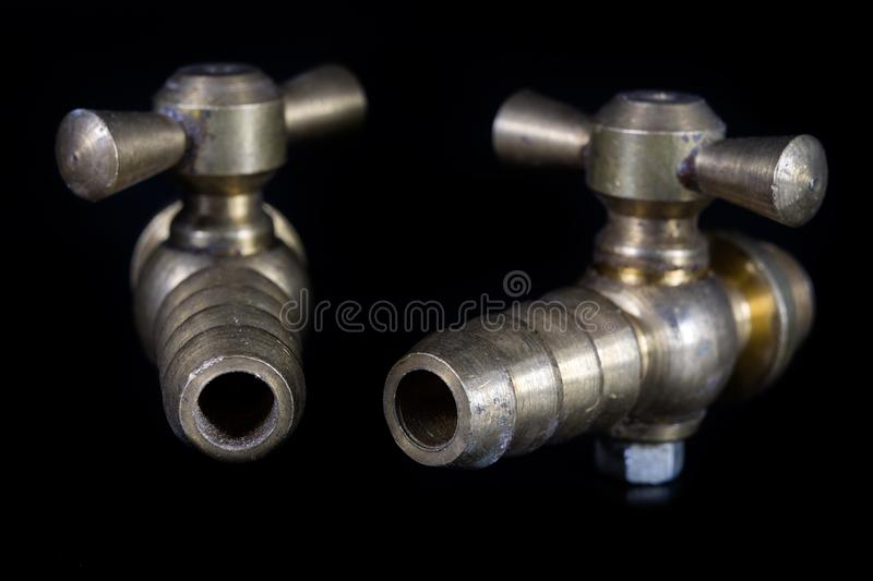 Old hydraulic valve. Garden accessories for watering vegetation. stock photos
