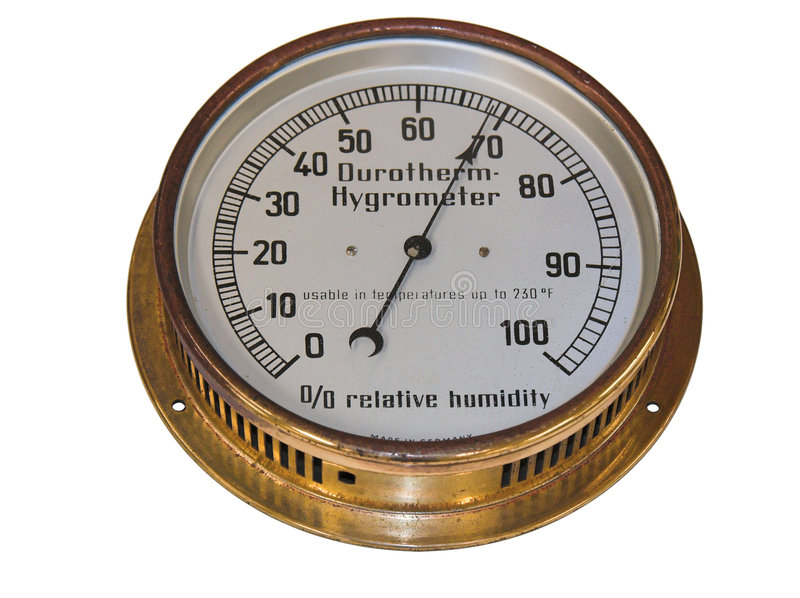 Old Hygrometer stock photography