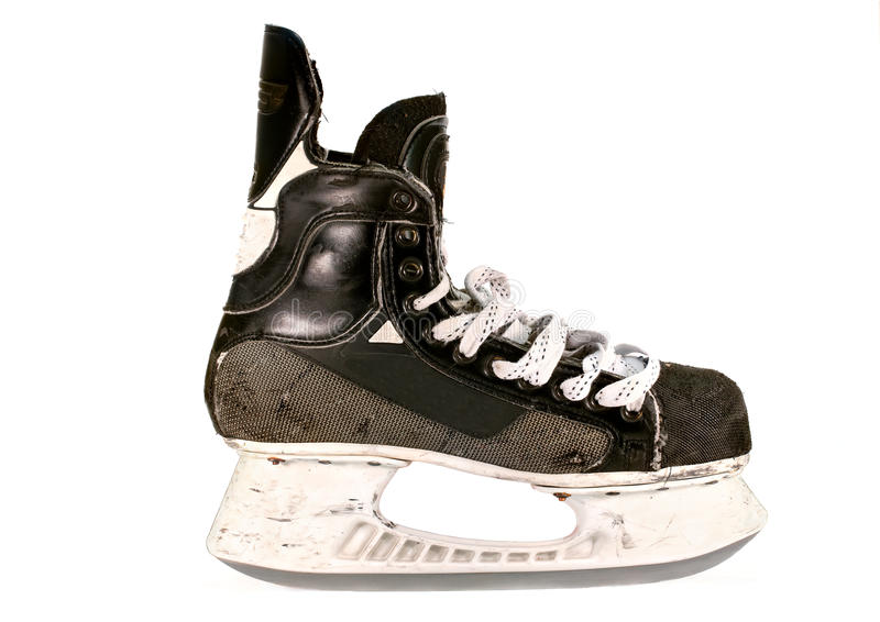 Download Old Ice Hockey Skate, Isolated Stock Photo - Image: 23166772