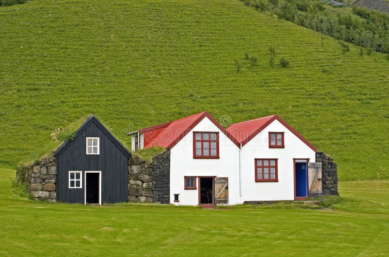 Old Icelandic houses royalty free stock photography