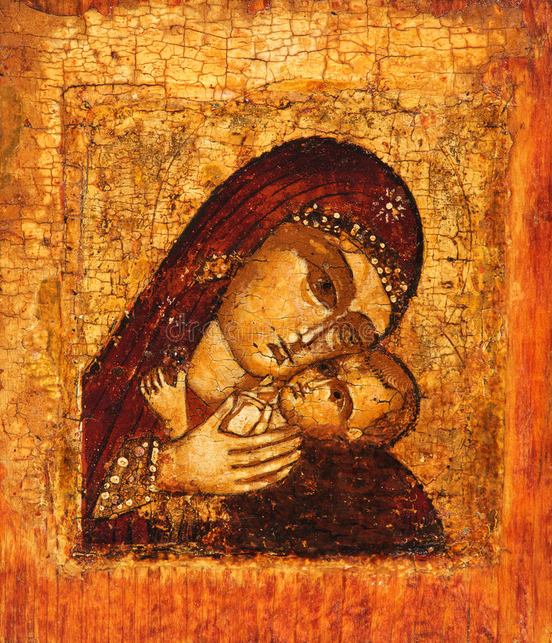 Free Old Icon Of Mother Of God Royalty Free Stock Photo - 19393805