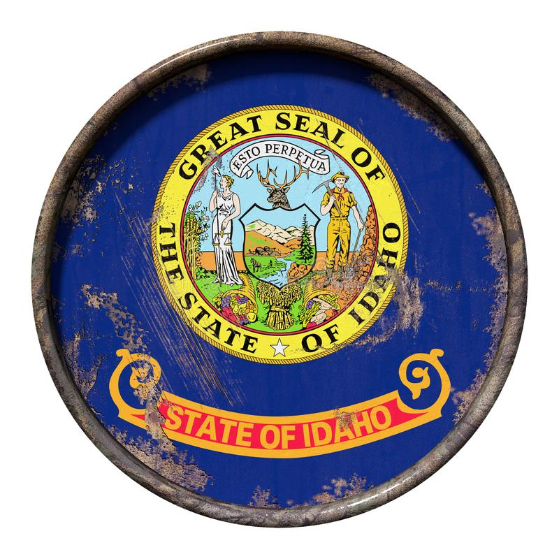 Old Idaho flag stock illustration