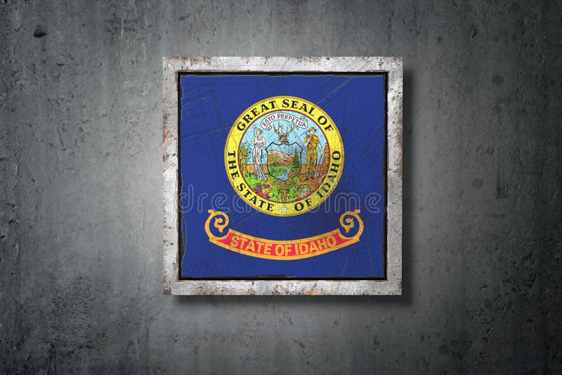 Old Idaho State flag vector illustration