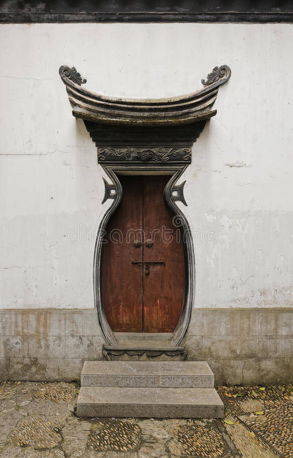 Old Imperial Style Chinese Door royalty free stock photos