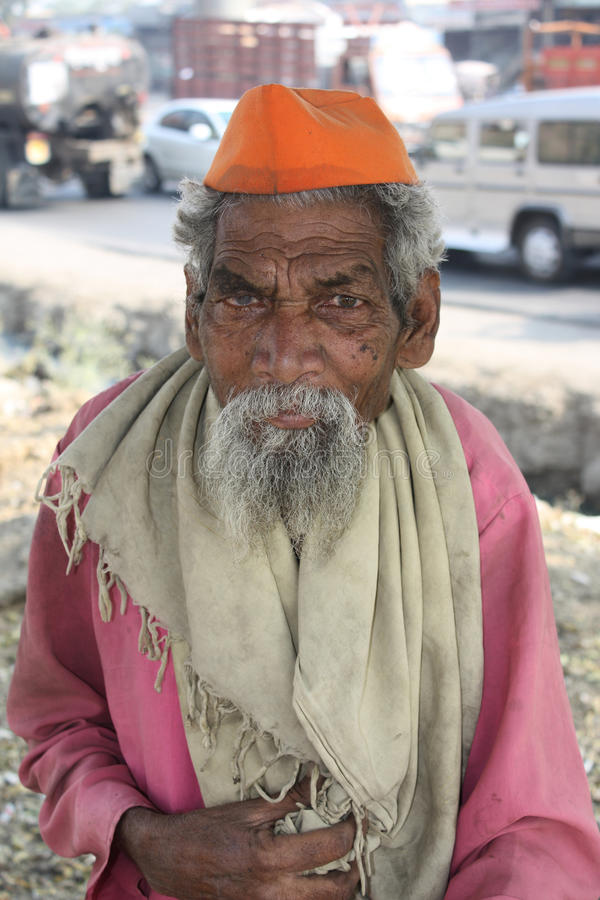 Download Old Indian Beggar editorial stock image. Image of senior - 20527424