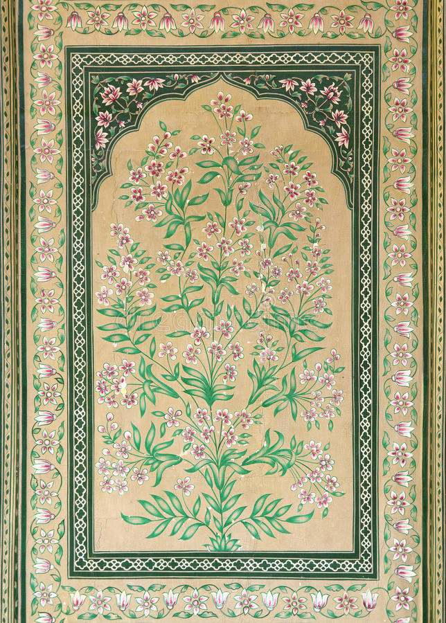 Download Old Indian Floral Ornament On Door In India Stock Photo - Image of flower, design: 30241554