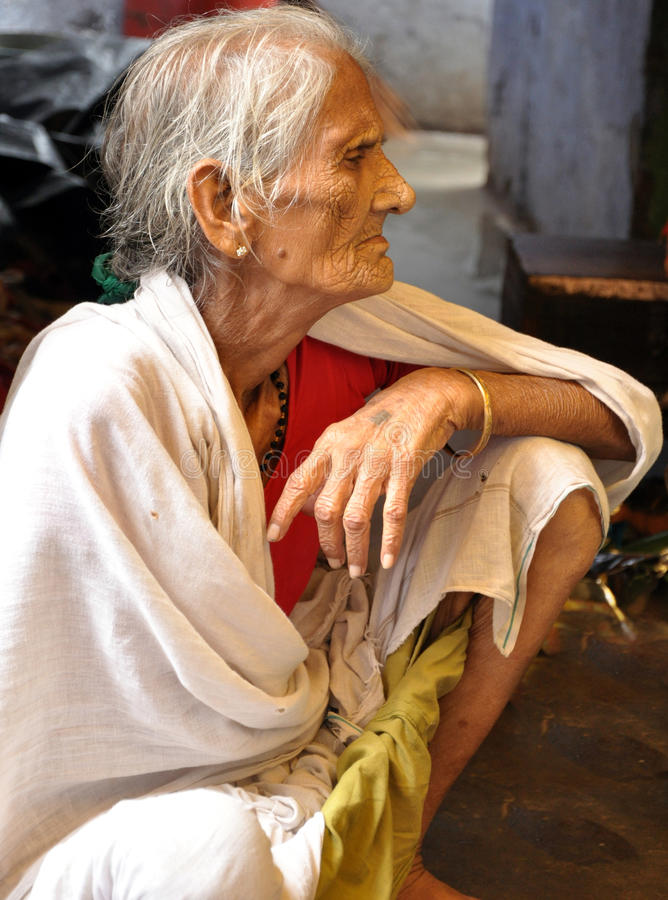 Download Old indian lady stock image. Image of woman, clothes - 20616017