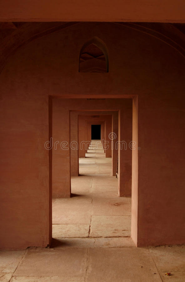 Free Old Indian Temple With It S Labyrinth Of Door Stock Photography - 10768502