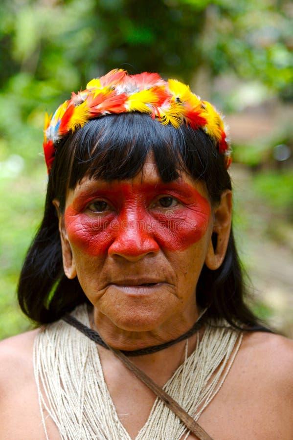 Old Indian woman stock photos