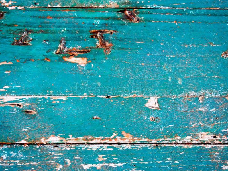 Old indigo boat wood stock images