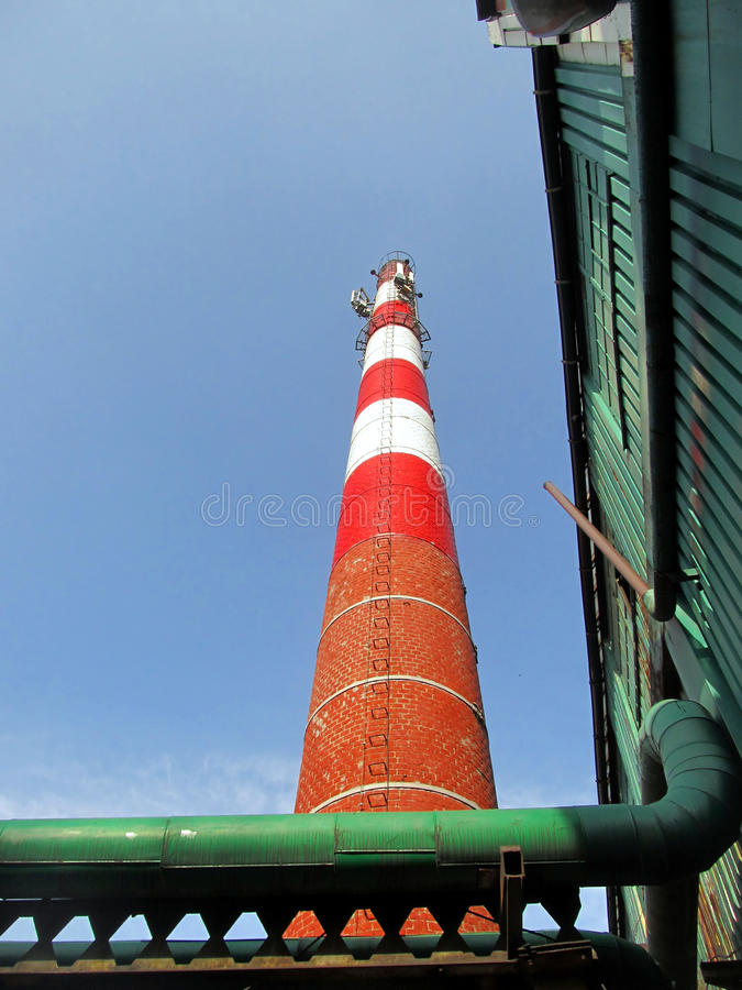 Download Old Industrial Chimney Made ??of Brick Stock Photo - Image of fuel, canals: 39505448