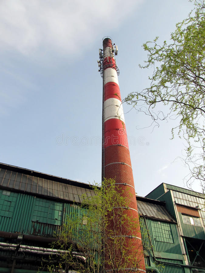 Download Old Industrial Chimney Made Of Brick Stock Photo - Image of environment, fire: 39505606