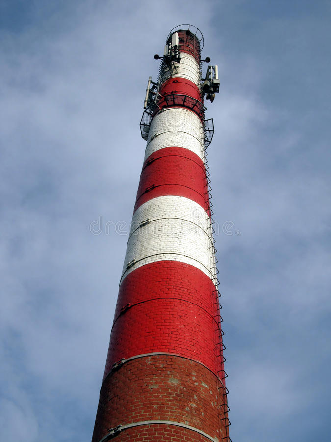 Download Old Industrial Chimney Made Of Brick Stock Photo - Image of light, energy: 39505652