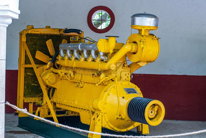 Old industrial engine, used to power factories, taken from Tecoh stock photography