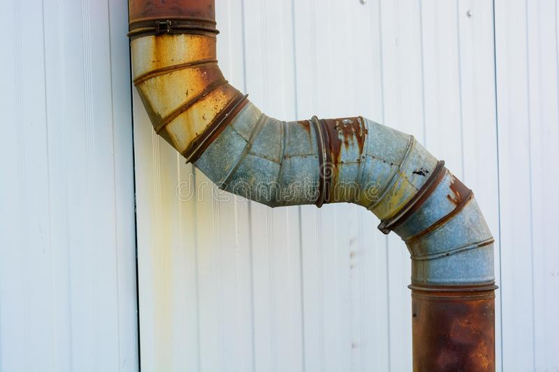 Old industrial pipe on plant royalty free stock image