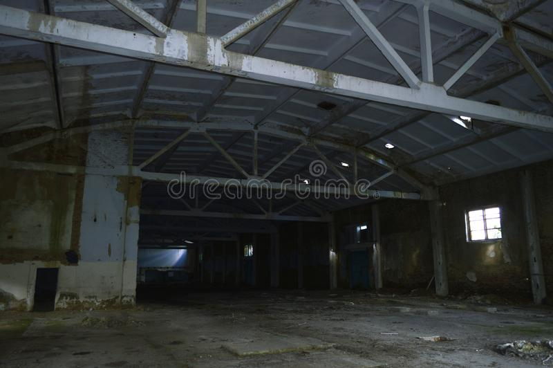 Old industrial room is empty royalty free stock photos