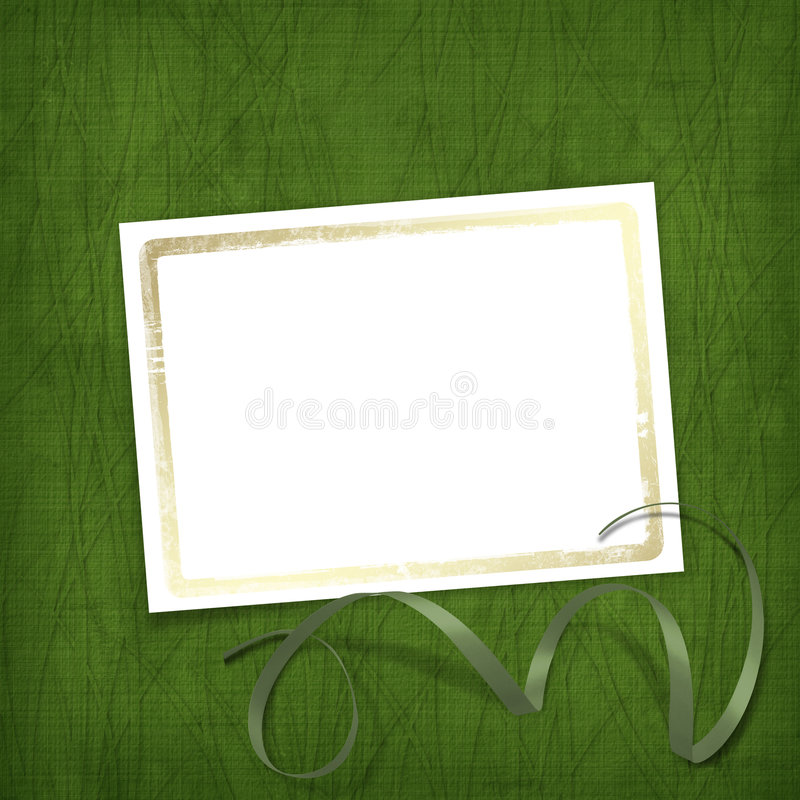 Download Old Invitation For Holiday With Ribbons Stock Illustration - Image: 8143868