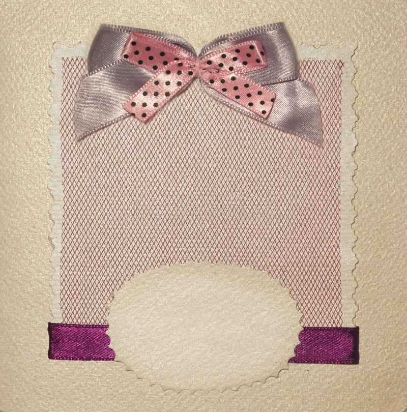Old Invite Or Gift Card Stock Photo