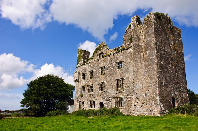 Old irish castle stock images