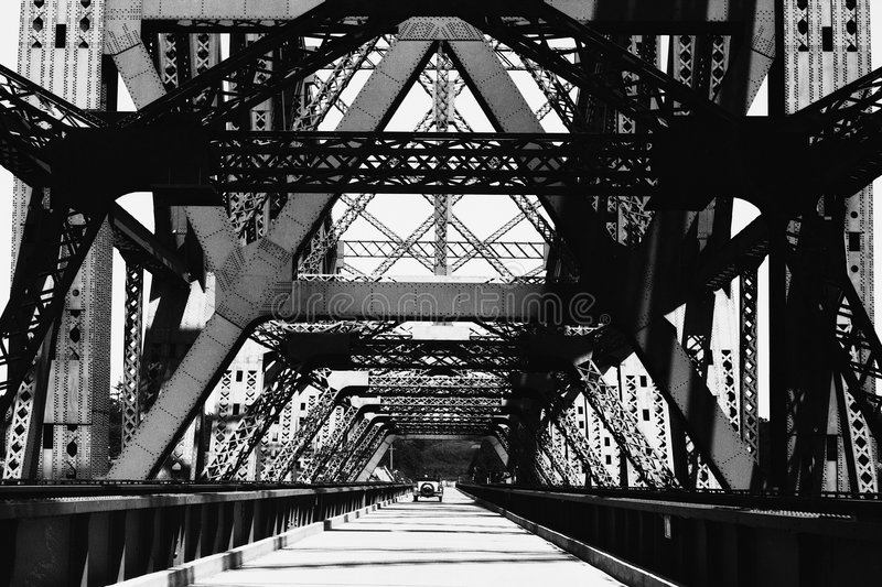 Download Old Iron Bridge stock image. Image of photograph, photo - 49737