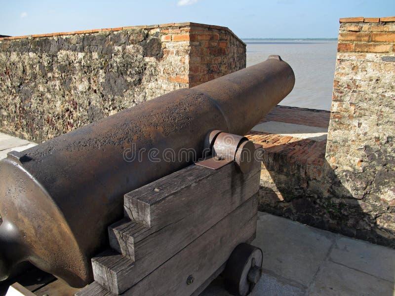 Old iron cannon stock photos