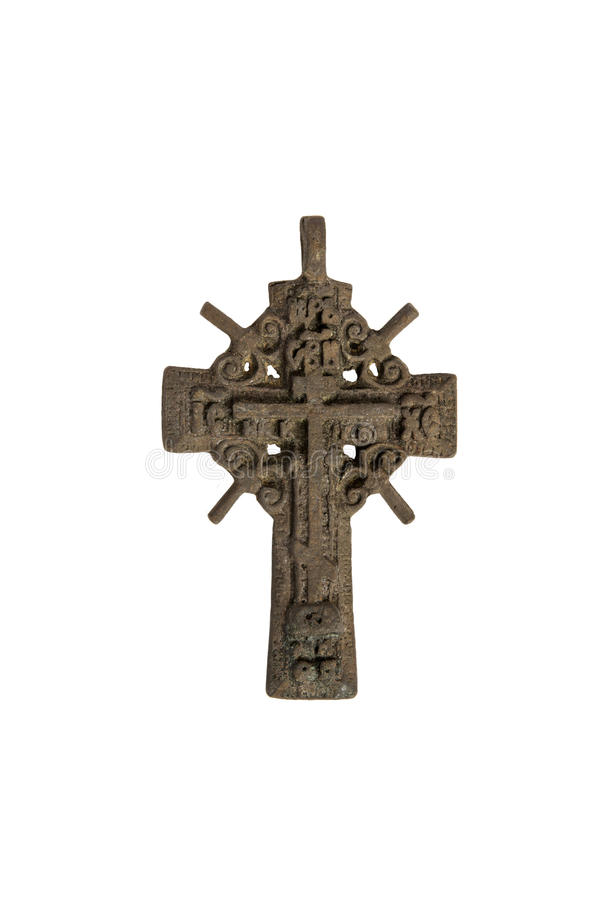 Old iron cross. Old iron cross Orthodox faith royalty free stock images