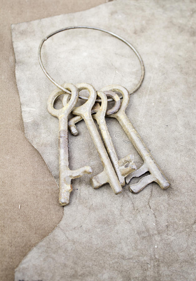 Old iron keys royalty free stock photography