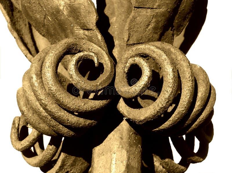 Old Iron ornamen, isolated